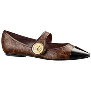 Louis Vuitton Pointy Flats Gold Button Cruise